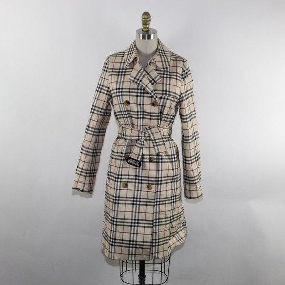 Burberry Check Ladies Trench Coat
